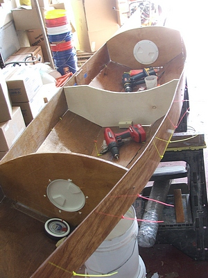 boat building cheap epoxy stitch and glue construction